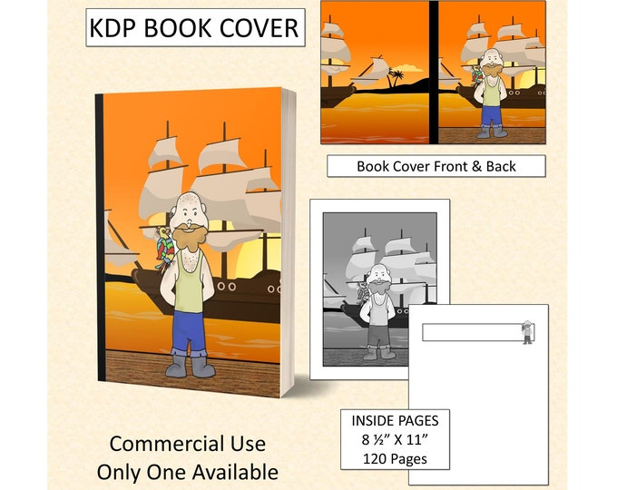 Pirate Cover Design KDP Book Cover Kindle Cover Template KDP Cover Premade Book Covers Amazon KDP Book Covers Digital Book Cover