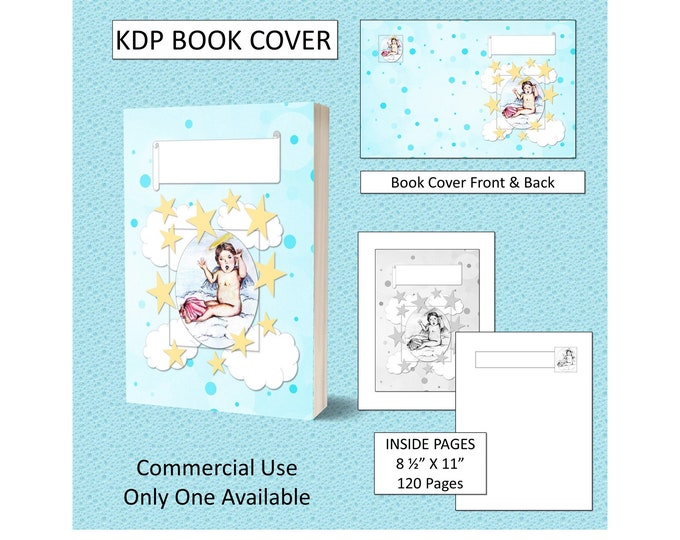 Cupid Angel on a Cloud Kids Cover Design Design - Original Artwork