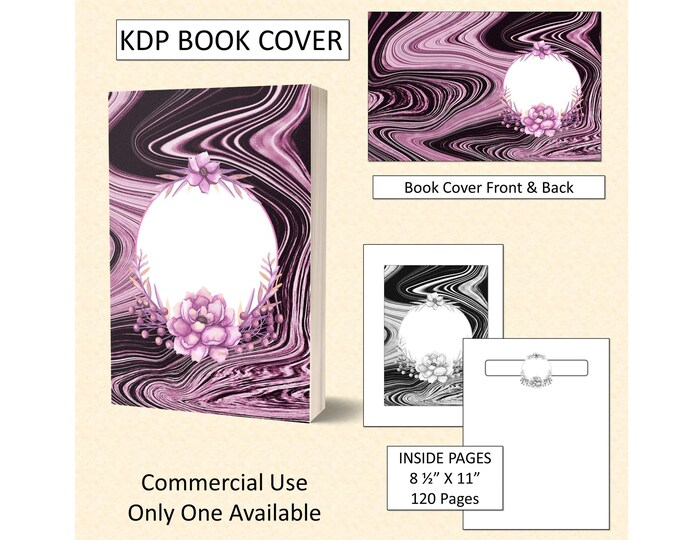 Abstract Swirl Floral Book Cover Design
