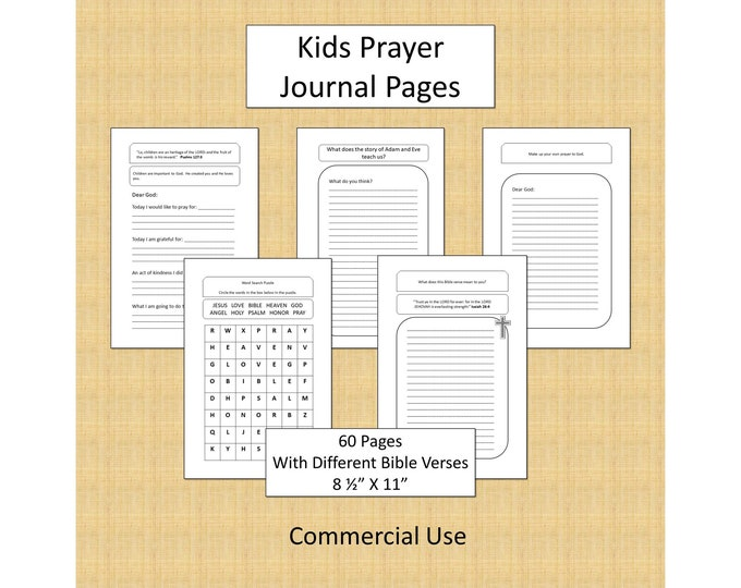 Kids KDP Interior Pages For Bible Journal Prayer Low Content Book Interiors Religion Interiors Low Content books KDP No Content Interior