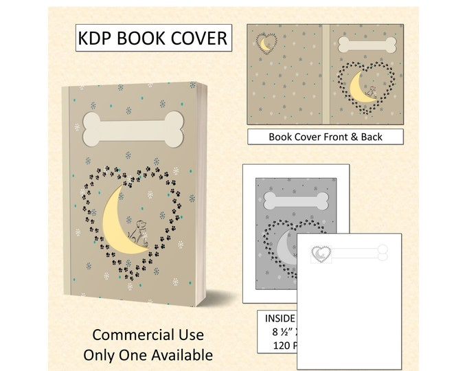 Dog Cat Lovers Over The Moon Book Cover Design