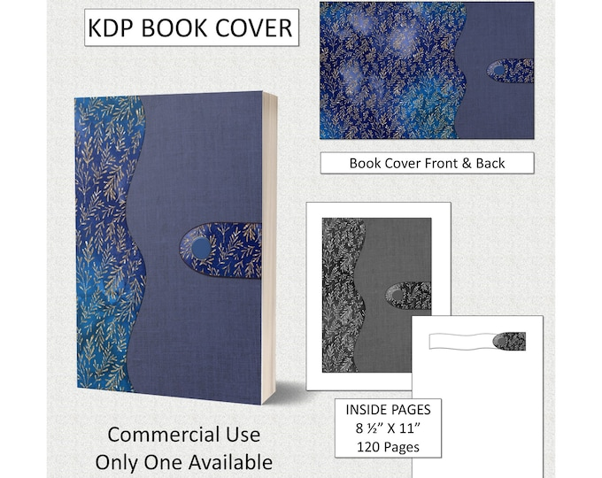 Gorgeous Classic Navy Book Cover - Notebook Style