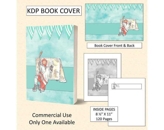 Kids Hockey KDP Book Cover Kindle Cover Template KDP Cover Premade Book Covers Amazon KDP Book Covers Digital Book Cover Commercial Use