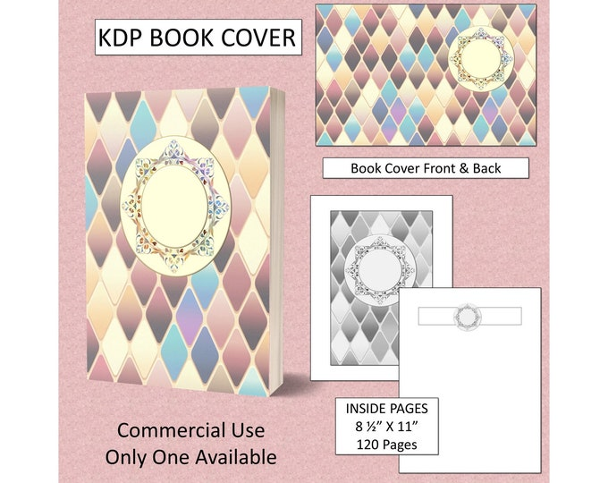 Soft Tones Diagonal Book Cover Design