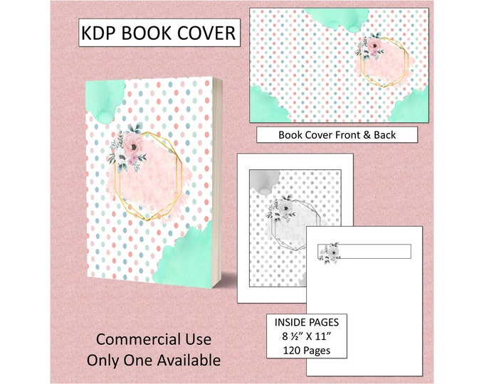 Pink Floral Cover KDP Book Cover Kindle Cover Template KDP Cover Premade Book Cover Amazon KDP Book Covers Digital Book Cover Commercial Use