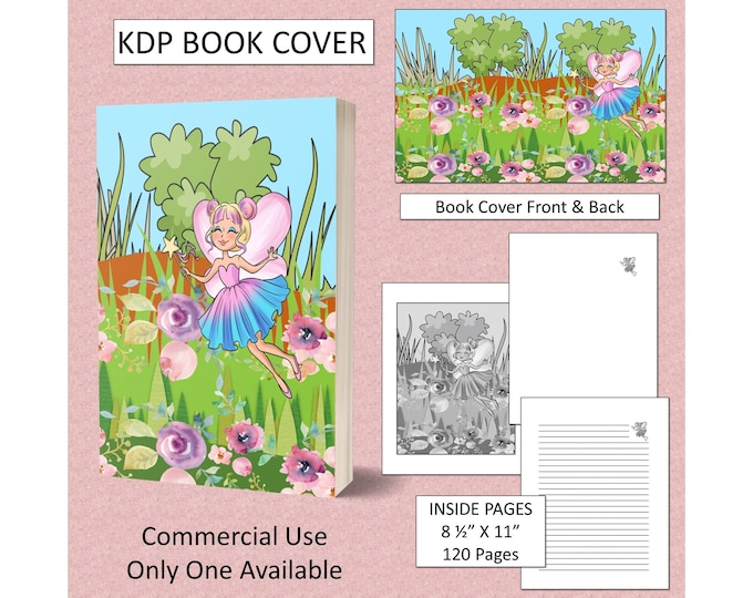 Fairies Garden Cover Design KDP Book Cover Kindle Cover Template KDP Cover Premade Book Covers Amazon KDP Book Covers