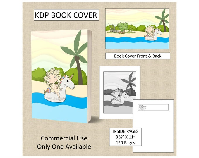 Beach Girl Cover Design KDP Book Cover Kindle Cover Template KDP Cover Premade Book Covers Amazon KDP Book Covers Digital Book Cover