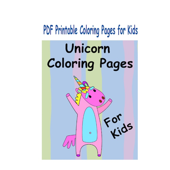 - PDF Printable Unicorn Coloring Pages For Kids Fun Unicorn Page Etsy