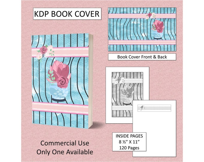 Cactus Striped Theme Book Cover Design