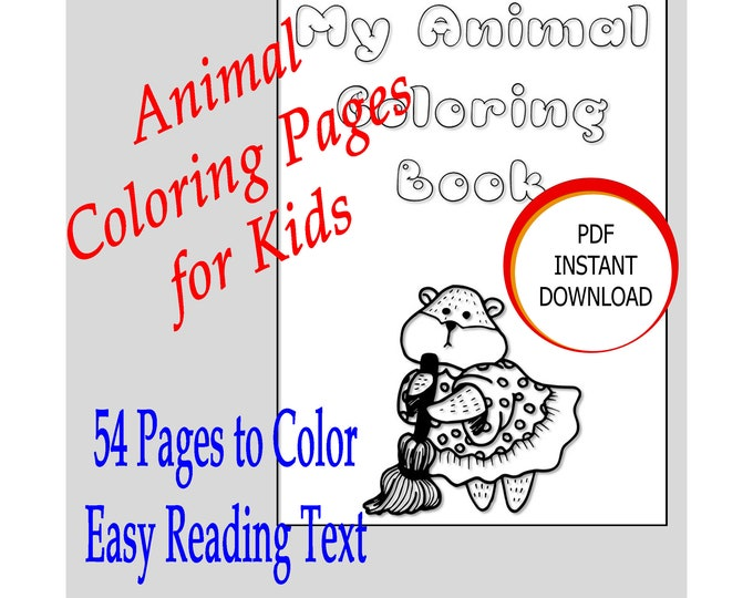 Cute Animals Coloring Pages set up for KDP