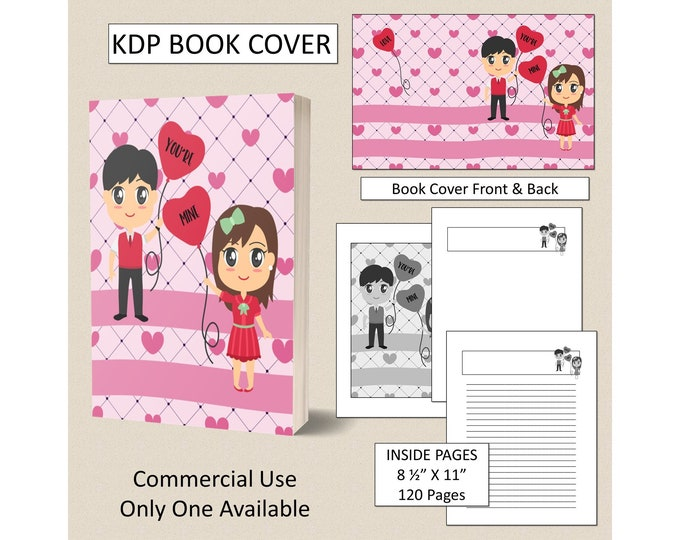 Valentine Book Cover For KDP Book Cover Template KDP Cover Digital Book Covers Amazon Premade KDP Book Covers Commercial Use