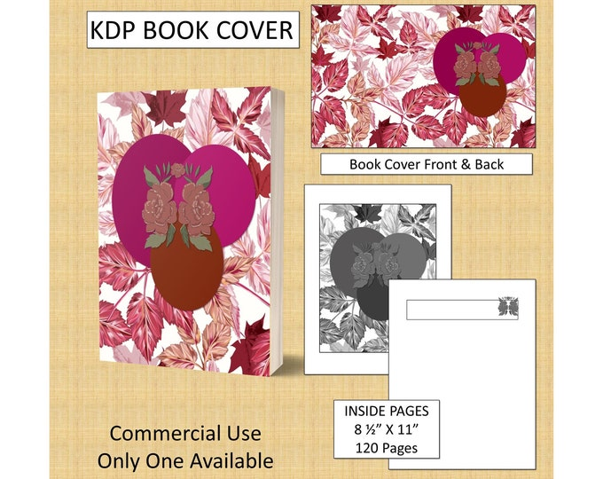 Autumn Leaf Design KDP Book Cover Kindle Cover Template KDP Cover Premade Book Covers Amazon Book Covers Digital Book Cover Commercial Use