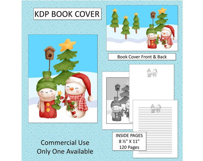 Christmas Snowman KDP Book Cover Kindle Cover Template KDP Cover Premade Book Covers Amazon Book Covers Digital Book Cover Commercial Use