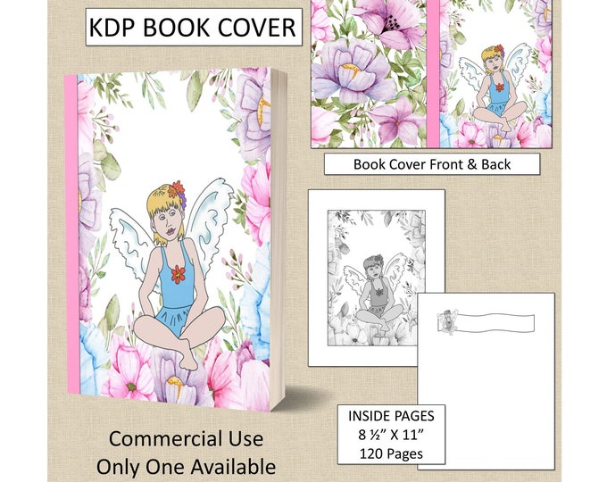 Cute Flower Fairy Cover KDP Book Cover Kindle Cover Template KDP Cover Premade Book Covers Amazon KDP Book Covers Digital Book Cover