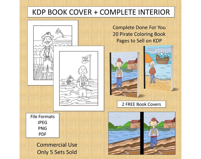 20 Pirate Coloring Pages For KDP Commercial Use Cute Pirate Coloring Pages