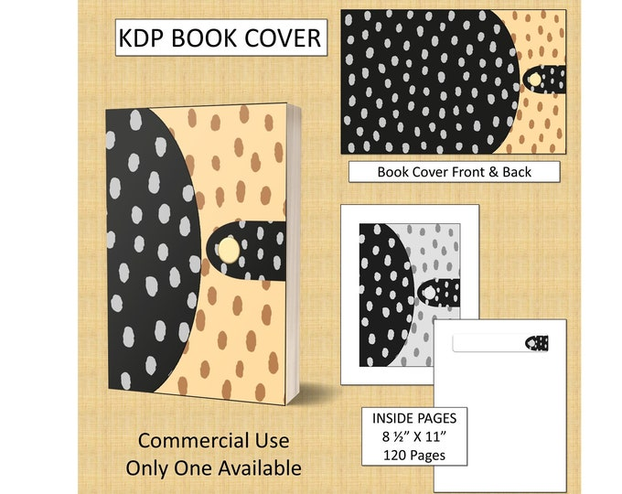 Unique Black and Yellow Dots Book Cover Design - Notebook Style