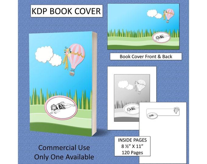 Girl Hot Air Balloon Book Cover Design