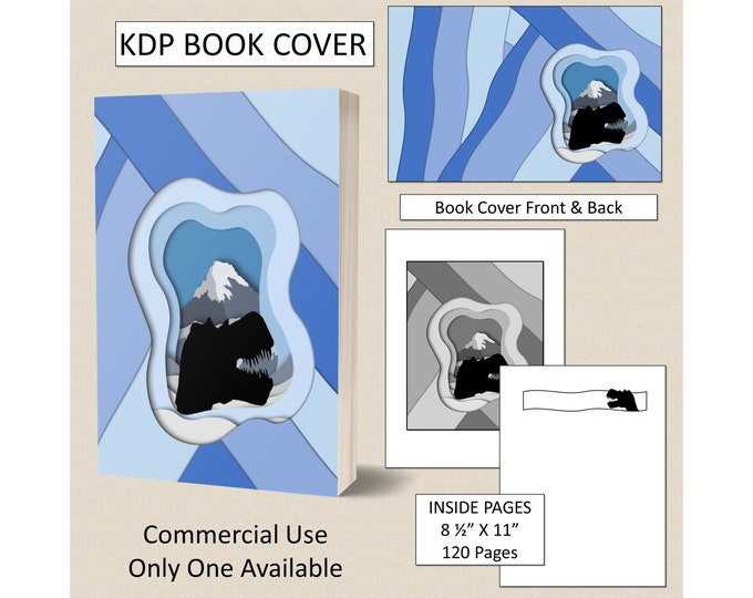 Dinosaur Kids KDP Book Cover Kindle Cover Template KDP Cover Premade Book Covers