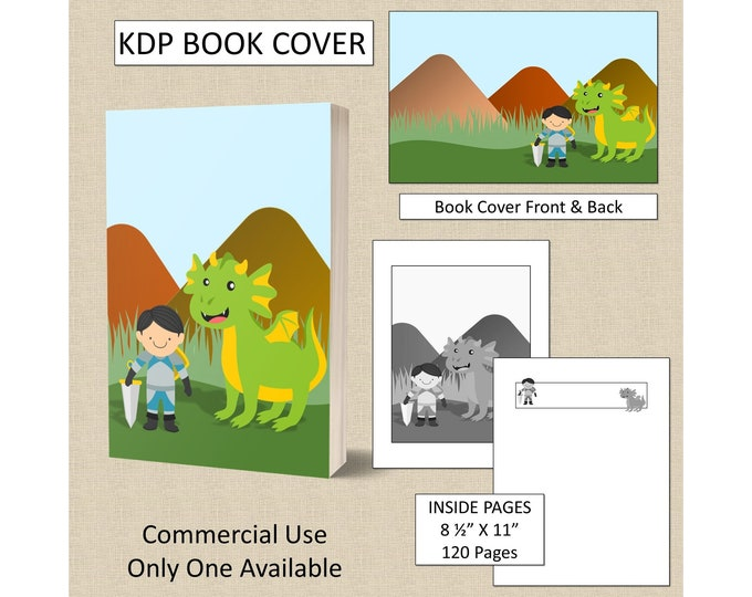 Dragon Book Cover Design KDP Book Cover Kindle Cover Template KDP Cover Premade Book Covers Amazon KDP Book Covers Digital Book Cover