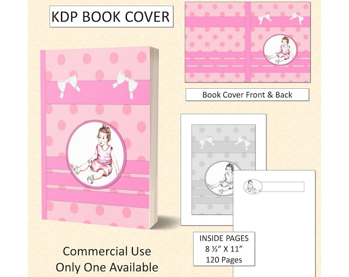 Pink Little Girl Kids Book Cover Design - Original Artwork
