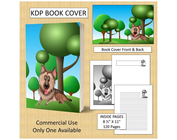 Cute Dog Book Cover KDP Book Cover Kindle Cover Template KDP Cover Premade Book Covers Amazon KDP Book Covers Digital Book Cover