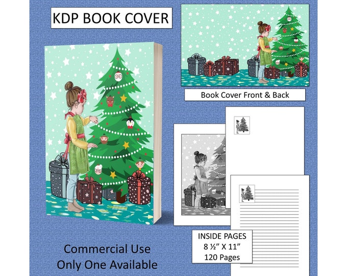 Christmas Girl Cover Design KDP Book Cover Kindle Cover Template KDP Cover Premade Book Covers Amazon KDP Book Covers