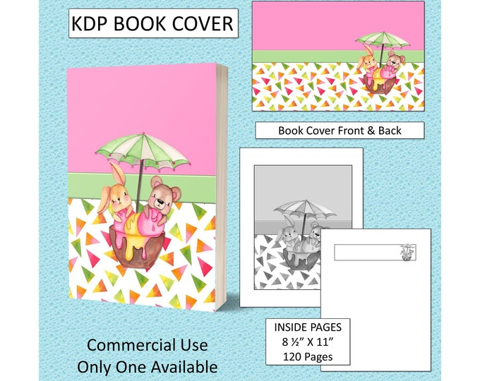 Cute Kids Animal KDP Book Cover Kindle Cover Template KDP Cover Premade Book Covers Amazon KDP Book Covers Digital Book Cover Commercial Use