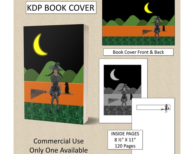 Halloween Witch KDP Book Cover Kindle Cover Template KDP Cover Premade Book Covers