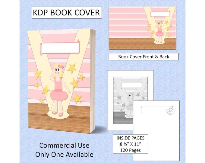 Ballerina Girl Cut-Out Style Book Cover Design