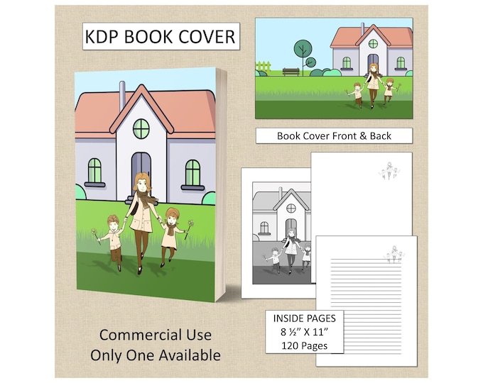 Family Book Cover Design For Mom KDP Book Cover Kindle Cover Template KDP Cover Premade Book Covers Amazon Book Covers Digital Book Cover