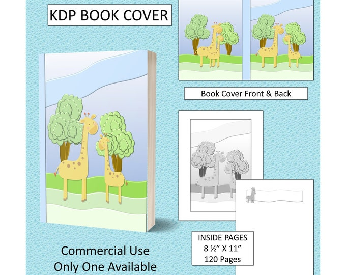 Kids Giraffe Book Cover KDP Book Cover Kindle Cover Template
