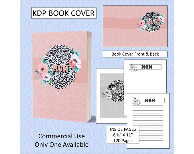 Book Cover Design For Mom KDP Book Cover Kindle Cover Template KDP Cover Premade Book Covers Amazon KDP Book Cover Commercial Use