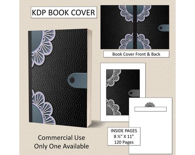 Black & Teal Mandala Book Cover Design