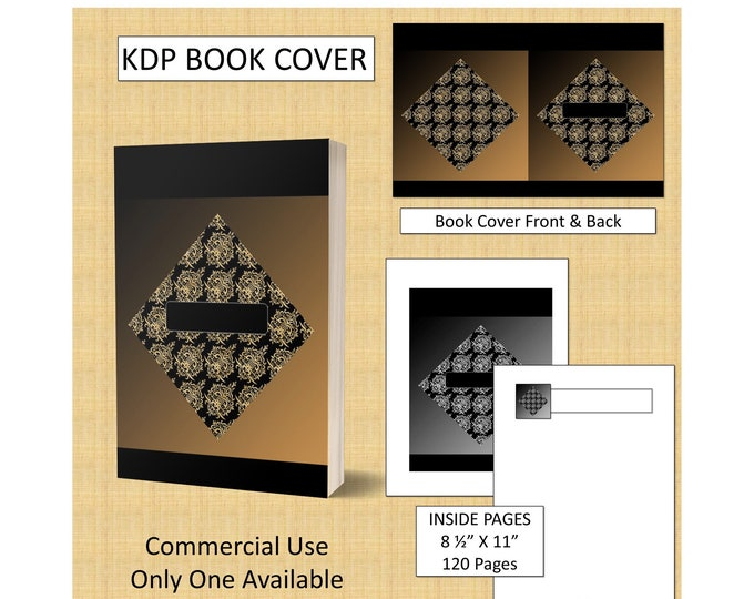 Black and Gold Trianlges Classic Book Cover Design