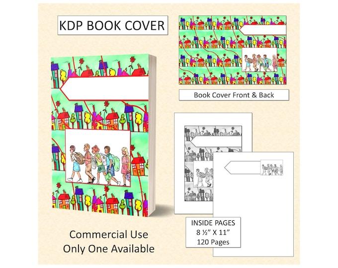 School Kids Book Cover Design - Original Artwork
