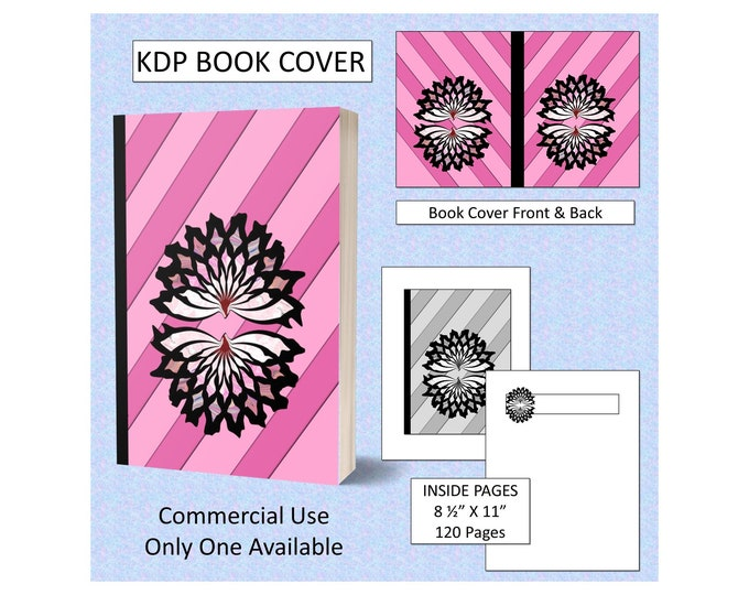 Stunning Black and Pink Abstract Flower Book Cover Design