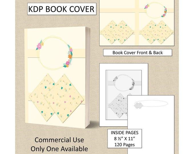 Pale Yellow Floral Book Cover Design