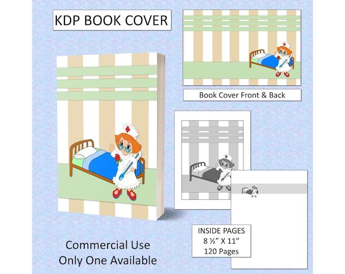 Nurse Book Cover Design KDP Book Cover Kindle Cover Template KDP Cover Premade Book Covers Amazon KDP Book Covers Digital Cover