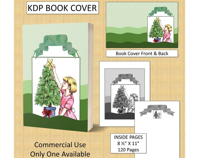 Christmas KDP Book Cover Kindle Cover Template KDP Cover Premade Book Covers Amazon Book Covers Digital Book Cover Commercial Use