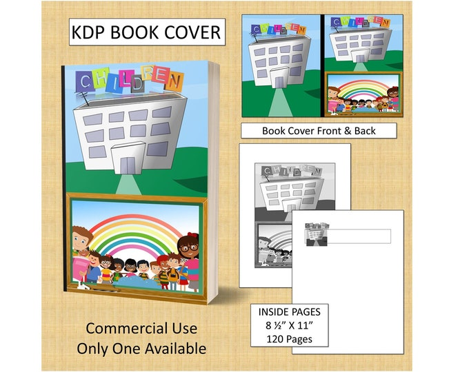 School Kids Cover Design KDP Book Cover Kindle Cover Template KDP Cover Premade Book Covers Amazon KDP Book Covers Digital Cover
