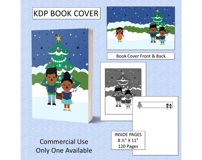 Christmas Singing Kids Cover Design KDP Book Cover Kindle Cover Template KDP Cover Premade Book Covers Amazon KDP Book Covers Digital Cover