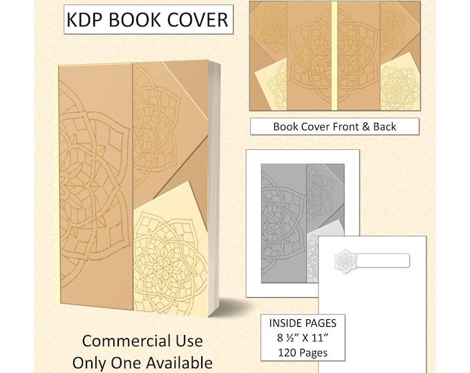 Gold Beige Mandala Effect Book Cover
