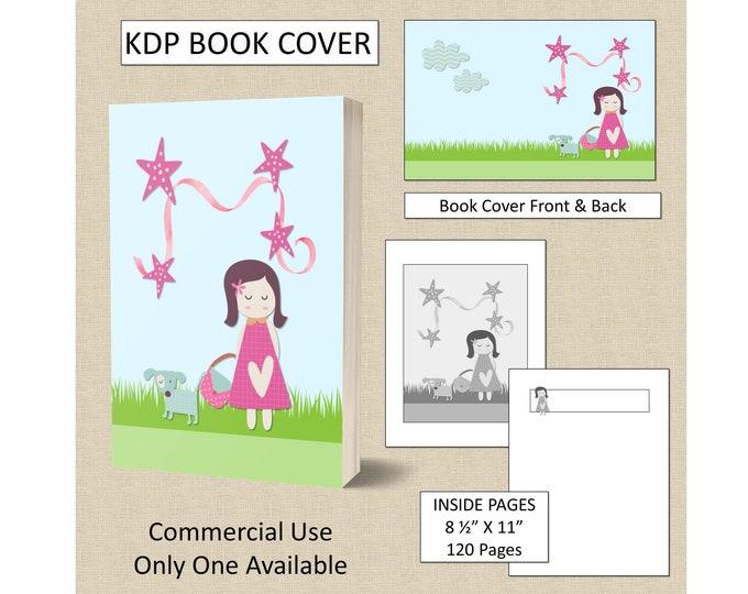 Cute Girls Theme Book Cover KDP Book Cover Kindle Cover Template KDP Cover Premade Book Covers Amazon KDP Book Covers Digital Book Cover