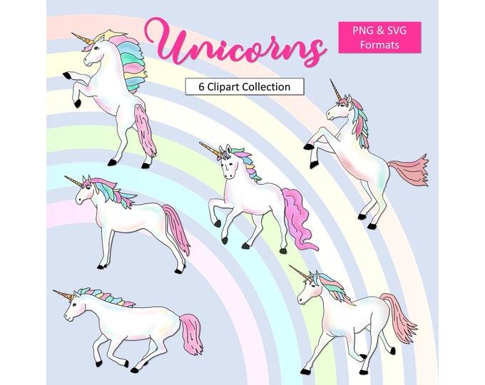 Unicorn SVG Printable Unicorn Clipart Unicorn Graphics Unicorn Elements Party Printable Unicorn Decoration Commercial Use Instant Download