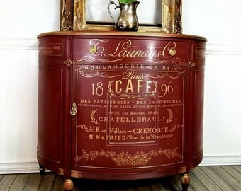 SOMEWHERE IN FRANCE, Rub on transfer, Redesign with Prima, 23.4″x34″ decal embellishment, furniture transfer, 640736, Gold transfer