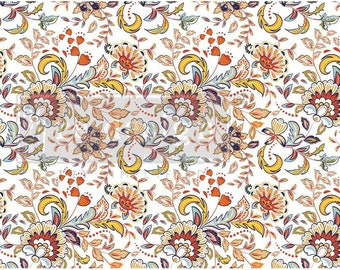 TANGERINE SPRING Decoupage Tissue Paper, Redesign with Prima, 1 sheet, 19″ X 30″ , Thick Quality, Fabric like