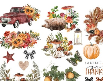 NEW! AUTUMN ESSENTIALS Transfer, Redesign with Prima, Rub On Transfer, Small Furniture Craft Transfer, Thanksgiving Decor