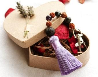 Mala Bead Charm, Eco Friendly Heart Box, Hand-Written Letter, Rose Petals.