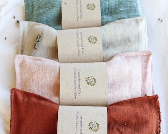 Weighted, Lavender Linen Eye-Pillow (washable)