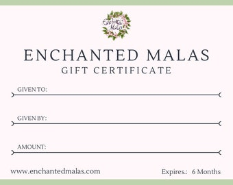 Personalised Gift Voucher (Various Amounts)